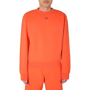 Off-white Omba025e20fle0032010 Men's Orange Cotton Sweatshirt