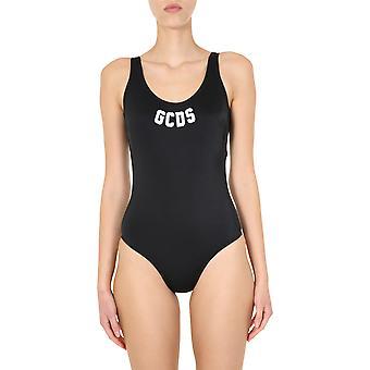 Gcds Cc94w01018202 Dames's Zwart Nylon One-piece Suit