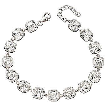 Elements Silver Imperial Cut Tennis Bracelet - Silver/Clear