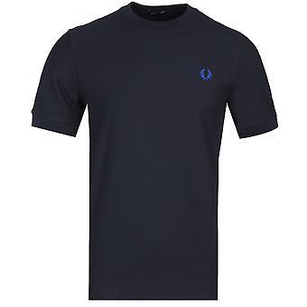 Fred Perry Bomull Pique Port Navy Logo T-skjorte