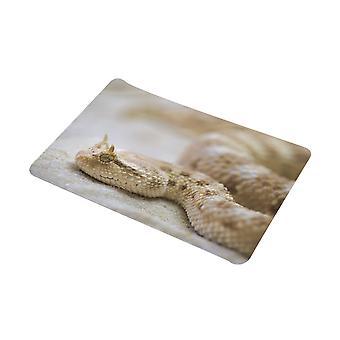 YANGFAN Snake Pattern Flannel Bath Mat