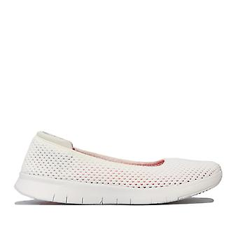 Women's Fit Flop Airmesh Ballerina Shoes in White