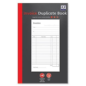 A5 Duplicate Receipt Book 80 Numbered Pages 2 Sheets Carbon Paper