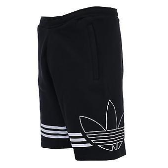 Men's adidas Originals Outline Fleece Sweat Shorts in Black