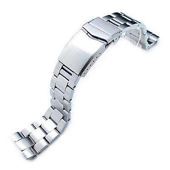 Strapcode horloge armband 22mm super 3d oester 316l roestvrij stalen horloge armband voor seiko nieuwe schildpadden srp777, v-gesp geborsteld