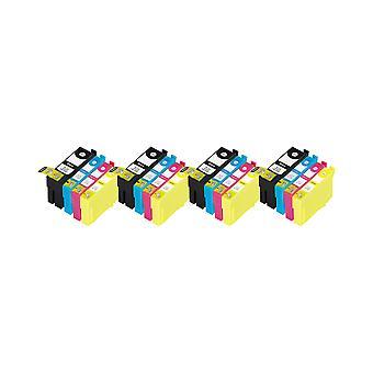 RudyTwos x 4 reemplazo para Epson 35XL (candado) sistema tinta unidad negro cian Magenta y amarillo Compatible con mano de obra profesional WF-4720DWF, 4725DWF de WF, WF-4730DTWF, WF-4730DWF, WF-4740DTWF, WF-4740DWF