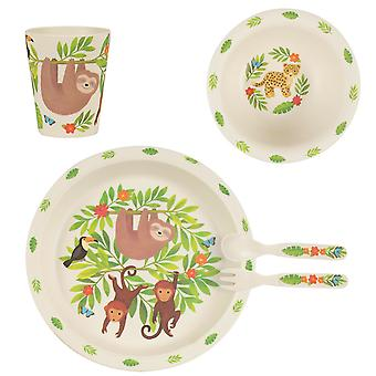 Sass & Belle Sloth And Friends Eco Bamboo Tableware Set