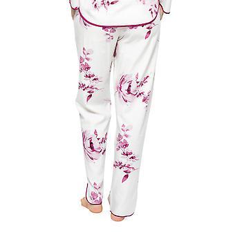 Cyberjammies Nova 4580 Femmes's Cream Mix Berry Floral Print Pyjama Pant