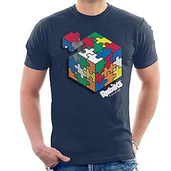 Rubik's hashtag Playtime mannen T-shirt