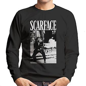 Scarface Pacino Machine Gun Scene Men's Sweatshirt