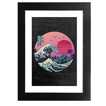 The Great Retro Wave Framed Print