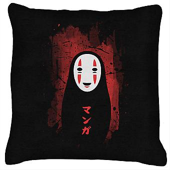 Spirited Away No Face Red And Black Cushion