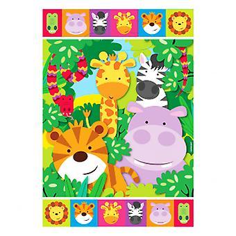 Amscan Jungle Friends Loot Bags (Pack Of 8)