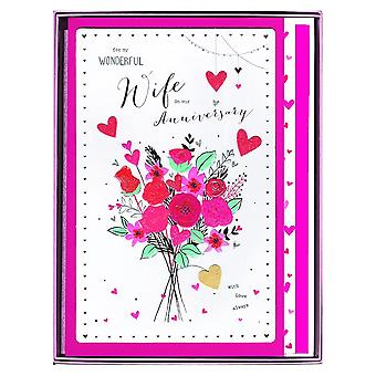 ICG Ltd For My Wonderful Wife Anniversary Boxed Large Card
