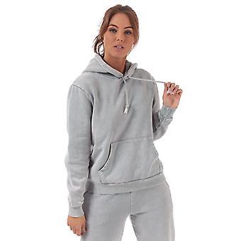 Women's Pink Soda Sport Wash Boyfriend Hoody in Grey