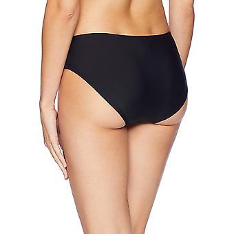 Coastal Blue Women's Swimwear Full Coverage Bikini Bottom, Ebony, M