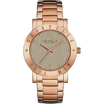 Caravelle Watch 44L203 - Plated Stainless Steel Ladies Quartz Analogue