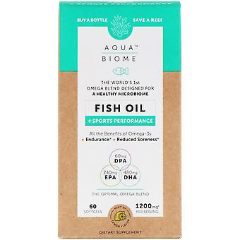 Enzymedica, Aqua Biome, Fish Oil + Sports Performance, Lemon Flavor, 1,200 mg, 6
