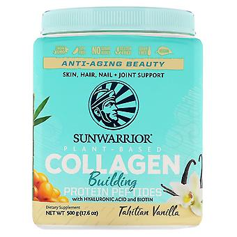 Sunwarrior, Collagen Building Protein Peptides, Tahitian Vanilla, 17.6 oz (500 g