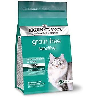Arden Grange Adult Cat Sensitive - Ocean White Fish & Potato - 2kg