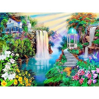 Waterfall Scenery Diy Frameless Oil Painting By Numbers Wall Art Home Decor