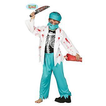 Guirca schelet zombie doctor doctor costum pentru copii unisex chirurg Kittel Halloween