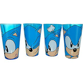 Pint Glass - Sonic the Hedgehog - Faces 4 Pack Pint Set