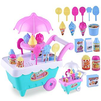 1 Set Children Kids Girl Toy- Trolley Role Play Mini Simulation Birthday Gift Play House (willekeurig)