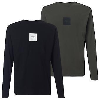 Oakley Mens 2020 Bold Block Logo LS Cotton Crew T-Shirt