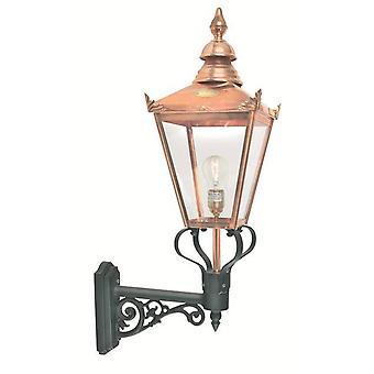 Elstead - 1 luz de pared al aire libre linterna de cobre IP44, E27