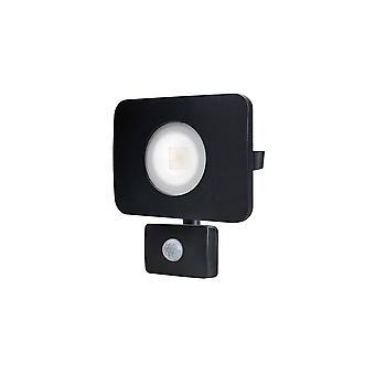LED Floodlight 30W 3000K 2700lm PIR Sensor / Override Matt Black IP64