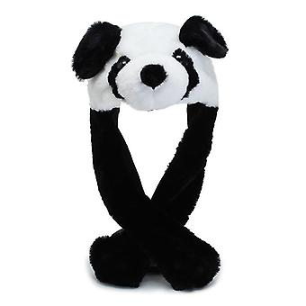 Cartoon Cuddly Moving Ear Rabbit / Panda Hat Dance Plush, Soft Stuffed Animal