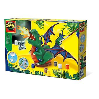 SES Creative Children's Dragon Glow-in-the-Dark Casting and Painting Set (14204)