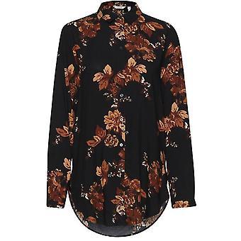 b.young Henna Tan Floral Shirt