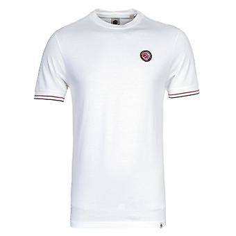Pretty Green Likeminded Tipped White T-Shirt