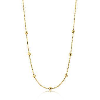 Ania Haie sterling ezüst fényes aranyozott Orbit gyöngyözött nyaklánc N001-04G
