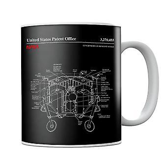 NASA Lunar Module Descent Stage Blueprint Mug