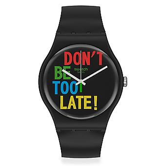 Swatch So29b100 Timefortime Black Siliconen Horloge