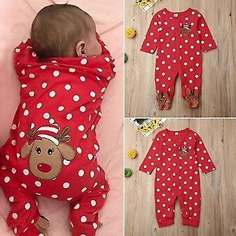 Bambino Bambino Natale Outfit Romper Jumpsuit Tusuit Cotton Clothes