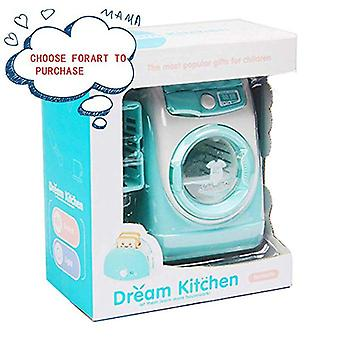 Mini Pretend Play Toy Simulation Washing Machine Children Can Filling Water Kitchen Gift