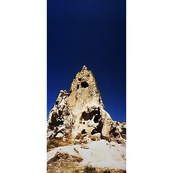 Caves and fairy chimneys of Cappadocia Central Anatolia Region Turkey Poster Print