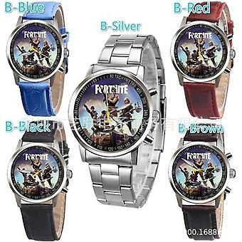 Fortnite's Game Watch Night Wristwatches Kids Men Women Simple Cartoon Printed