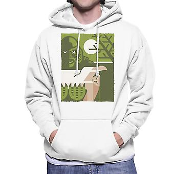 The Creature From The Black Lagoon Carrying Kay Illustration Men's Hooded Sweatshirt