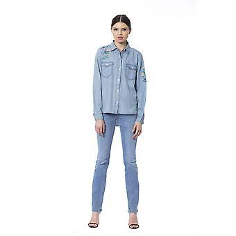 Silvian Heach Women's Light Blue Shirt