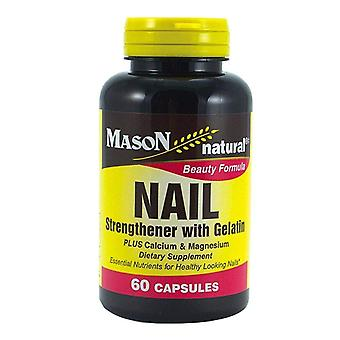 Mason naturals nail strengther with gelatin, capsules, 60 ea
