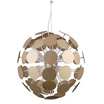 Italux Mailone - Pendentif suspendu moderne blanc, Golden 6 Light , E14