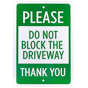 Bitte blockieren Sie das Einfahrtsschild nicht