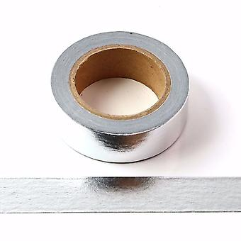 Nastro Washi in lamina d'argento Nastro adesivo autoadesivo 15mm x 10m