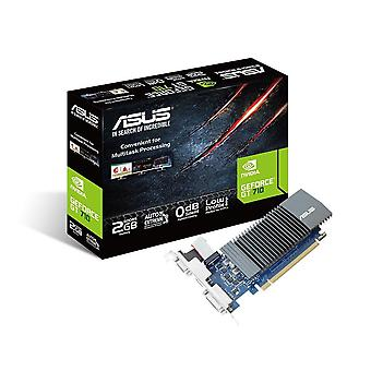Asus gt710-sl-2gd5 geforce gt 710 2 gb ddr5 graphics with passive 0 db efficient cooling