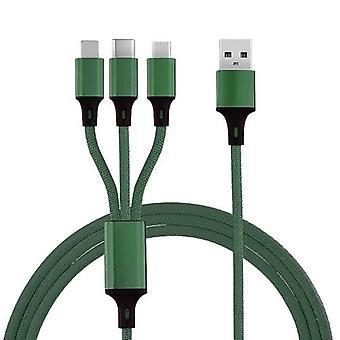 3 IN 1 USB-kaapeli matkapuhelimeen Nopea virtajohto Virtajohto Virtajohto
